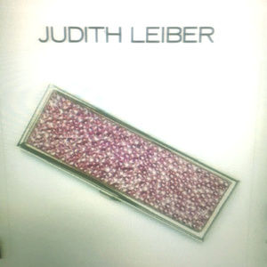 Judith Leiber Pink Compact Mirror